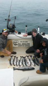 Coho Salmon Caught On Lake Michigan
