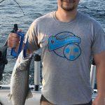 lake trout caught on lake michigan 7-31-2018