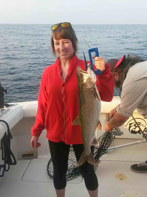 Lake trout caught on Lake Michigan 8-21-2018