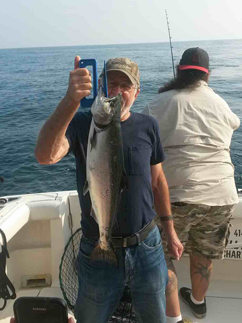 Rainbow Trout caught on Lake Michigan 8-21-2018