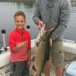King Salmon Caught On Lake Michigan - 9-5-2018