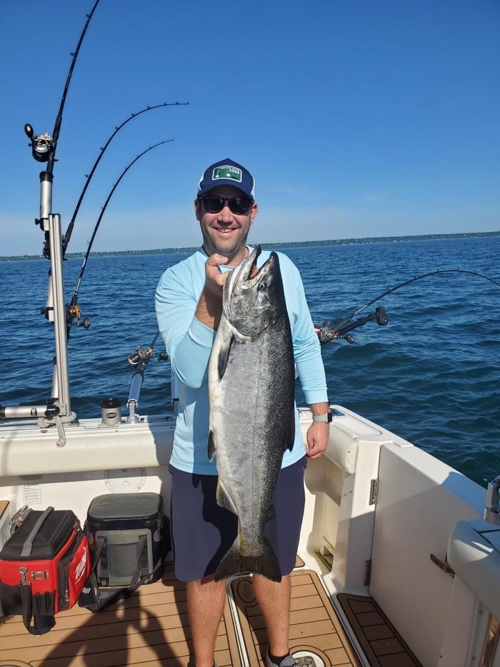 Chinook Salmon Caught On Lake Michigan - All Anglers Charter Service