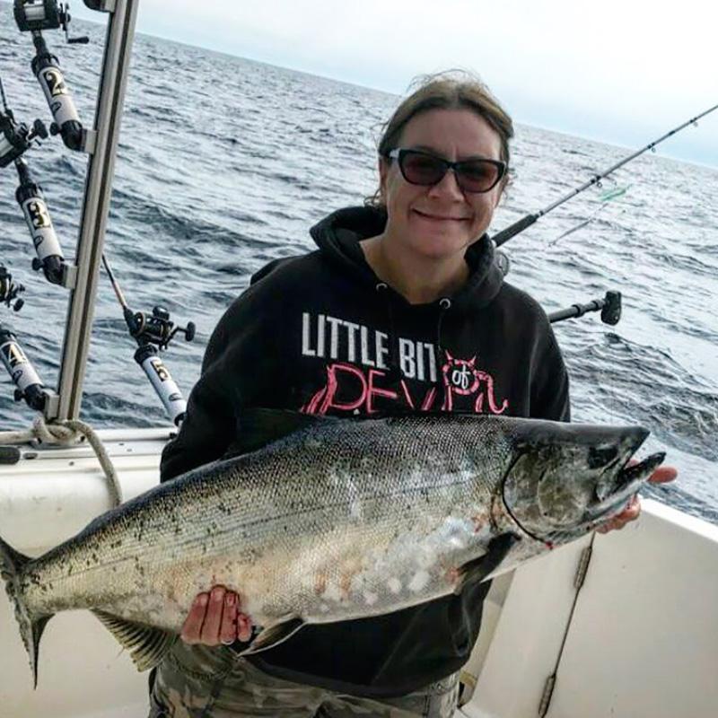 King Salmon Fishing On Lake Michigan