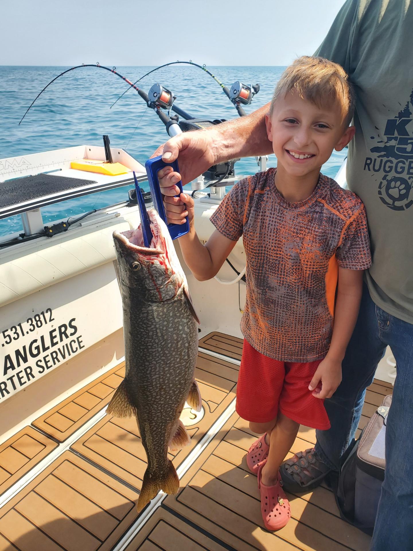 Lake Trout Fishing On Lake Michigan