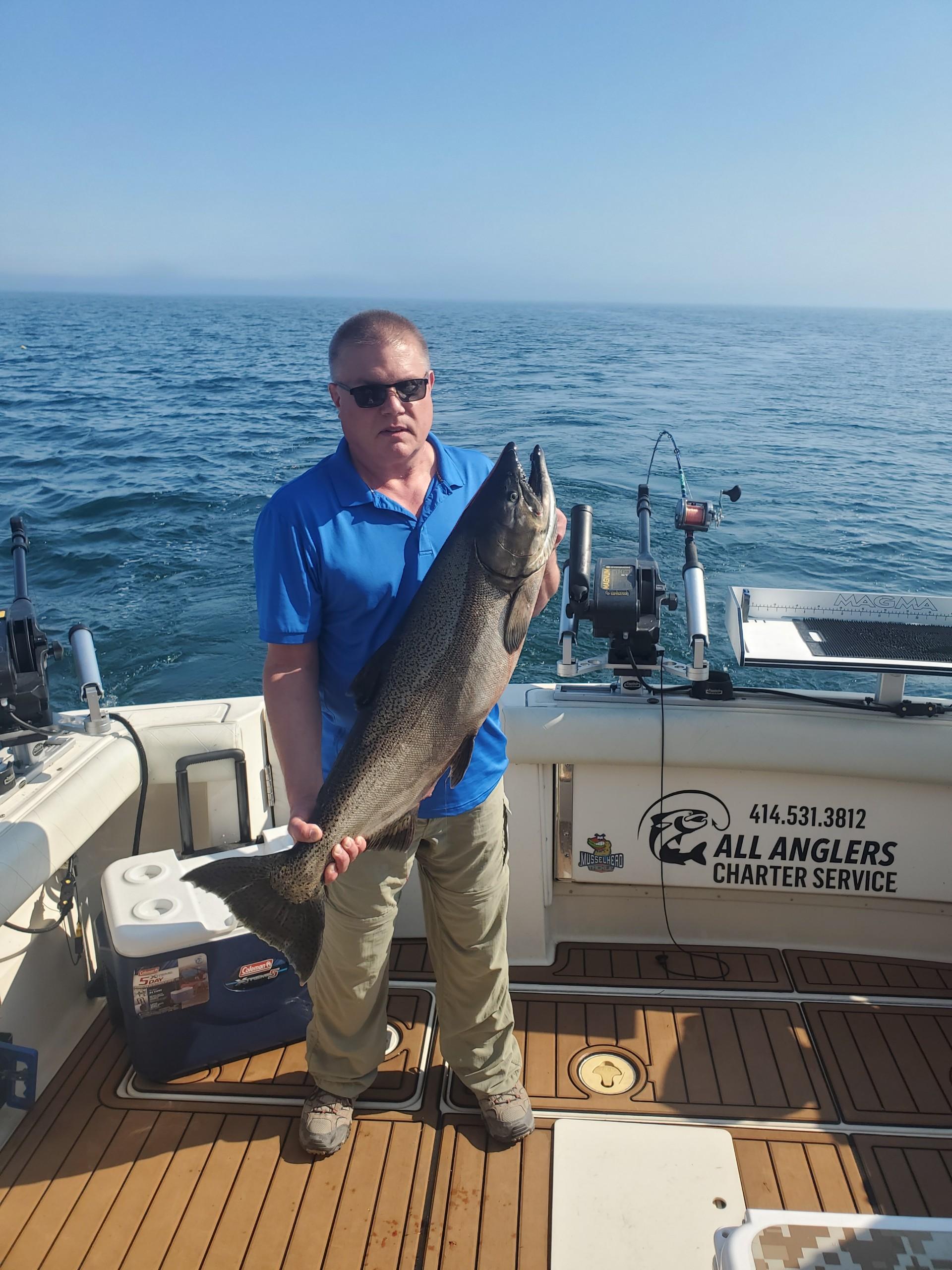 King Salmon Caught On Lake Michigan