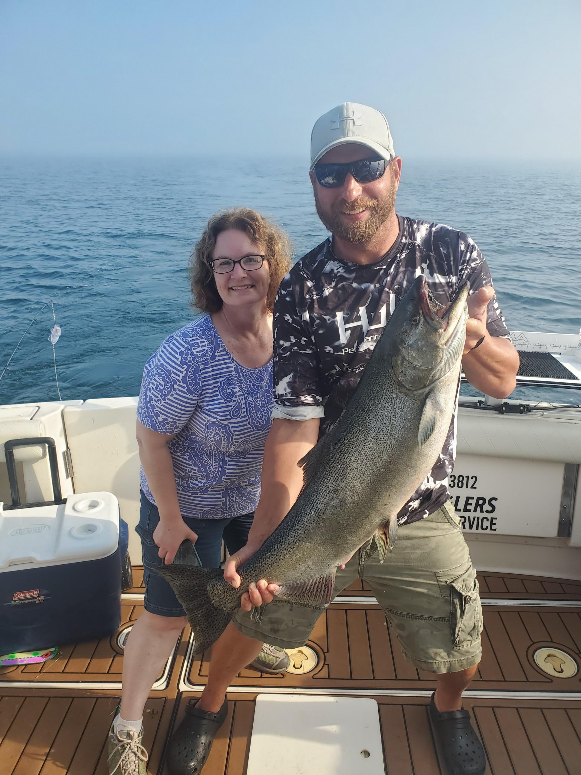 King Salmon Charter Fishing On Lake Michigan